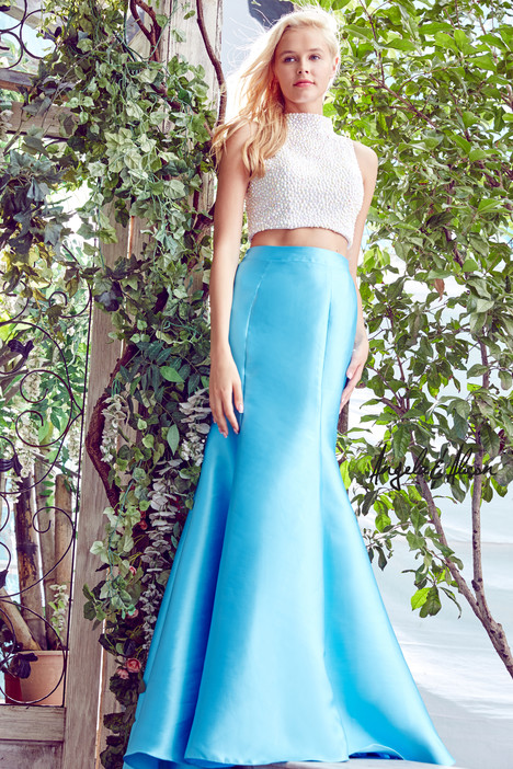 771025 (ivory + sky blue) Prom                                             dress by Angela & Alison Prom