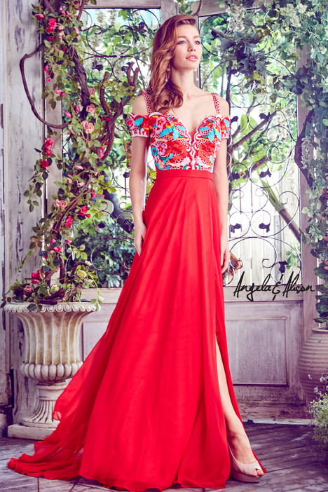 771036 (hot red) Prom                                             dress by Angela & Alison Prom