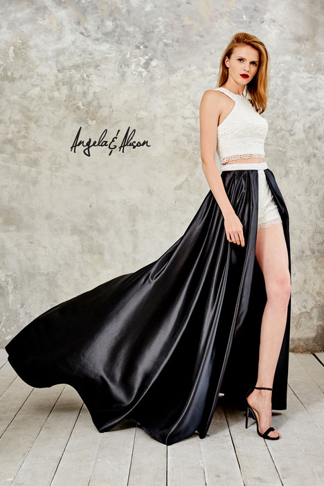 771040 (ivory + black) Prom                                             dress by Angela & Alison Prom