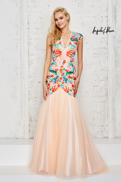 771041 (light peach) Prom                                             dress by Angela & Alison Prom