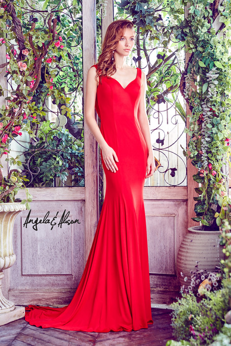 771047 (hot red) Prom                                             dress by Angela & Alison Prom