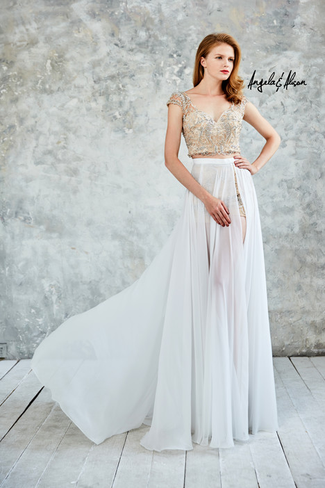 771049 (champagne + ivory) Prom                                             dress by Angela & Alison Prom