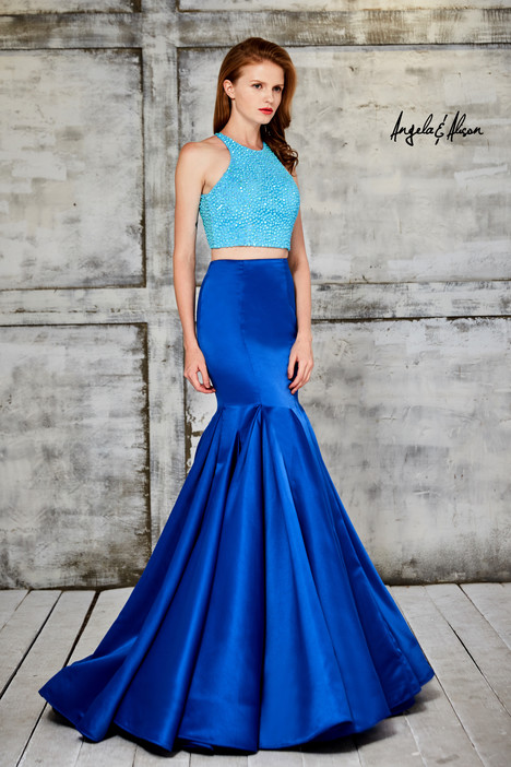 771050 (turquoise + royal blue) gown from the 2017 Angela & Alison Prom collection, as seen on dressfinder.ca