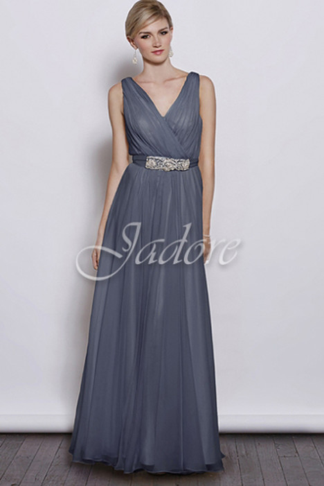 J3040 (steel blue) Prom                                             dress by Jadore Evening