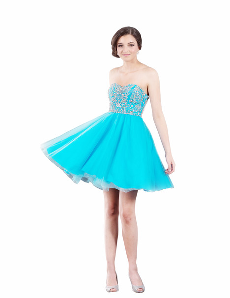 J3036C (turquoise) Prom                                             dress by Jadore Evening
