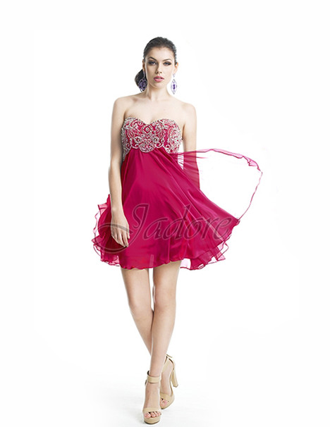 J5014 (hot pink) gown from the 2017 Jadore Evening collection, as seen on dressfinder.ca