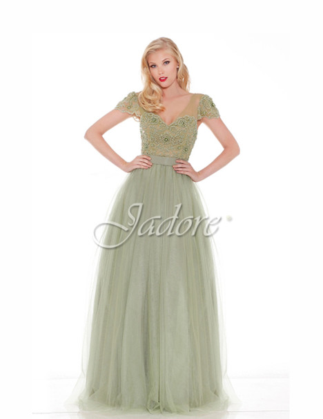 J6041 (sage) gown from the 2017 Jadore Evening collection, as seen on dressfinder.ca