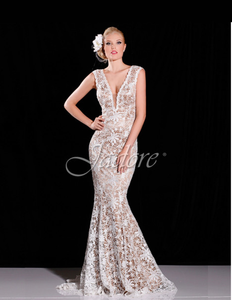 J6048 (ivory) Prom                                             dress by Jadore Evening