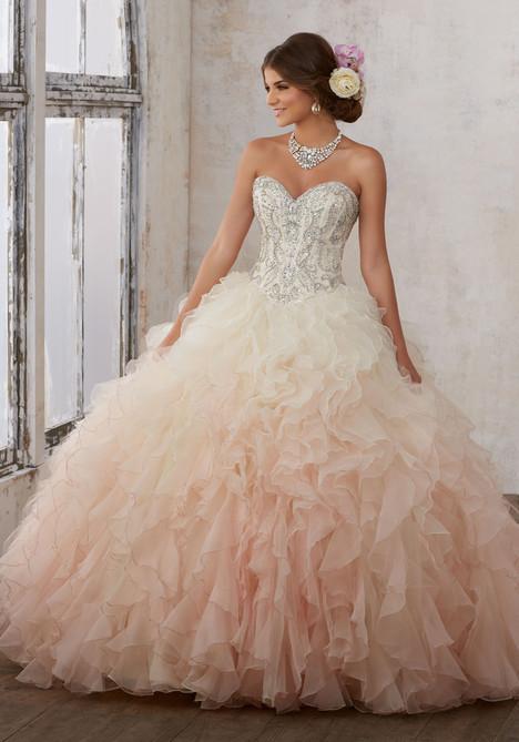 89123 (champagne + blush) Prom                                             dress by Mori Lee : Vizcaya