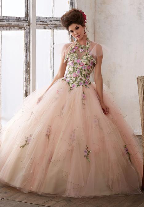 89124 (floral blush + champagne) Prom                                             dress by Mori Lee : Vizcaya