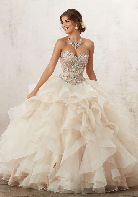 89126 (champagne + nude) Prom                                             dress by Mori Lee : Vizcaya