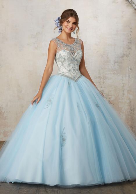 89129 (light blue + champagne) Prom                                             dress by Mori Lee : Vizcaya