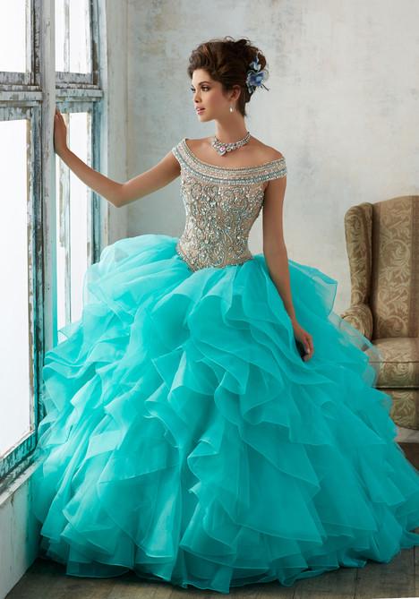 89138 (deep aqua + nude) Prom                                             dress by Mori Lee : Vizcaya
