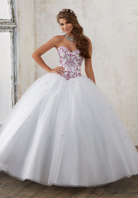 60012 (white + fuchsia) Prom                                             dress by Mori Lee : Valencia