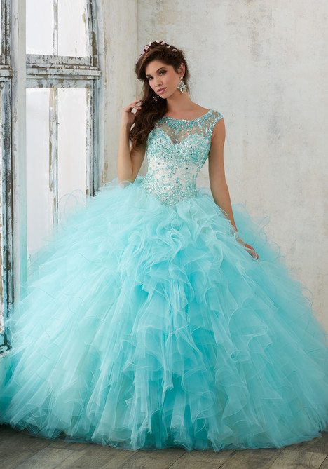 60013 (aqua + champagne) Prom                                             dress by Mori Lee : Valencia