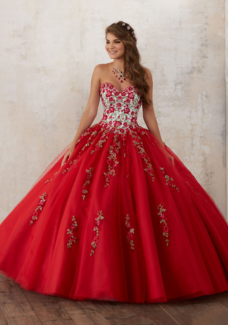 60014 (white + scarlet) Prom dress by Morilee Valencia
