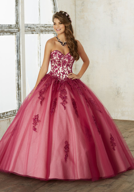 60016 (black cherry + nude) Prom                                             dress by Mori Lee : Valencia