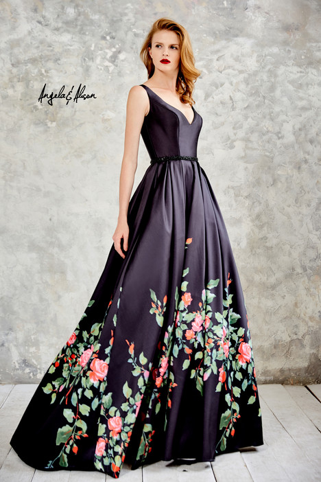771055 (black floral) Prom                                             dress by Angela & Alison Prom