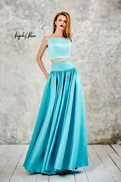 771078 (mint + light teal) gown from the 2017 Angela & Alison Prom collection, as seen on dressfinder.ca