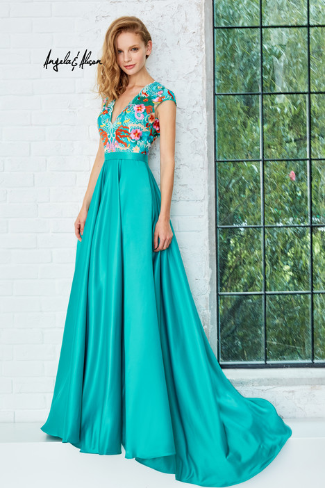 771079 (teal) gown from the 2017 Angela & Alison Prom collection, as seen on dressfinder.ca