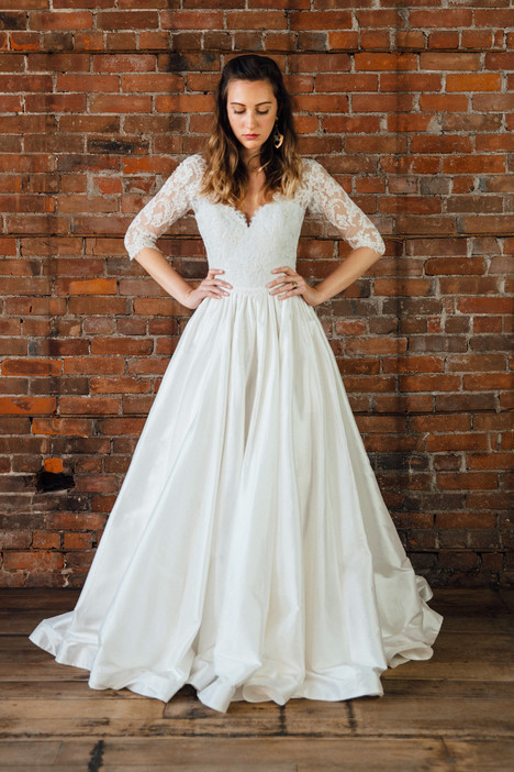 Sage Wedding dress by Lea-Ann Belter
