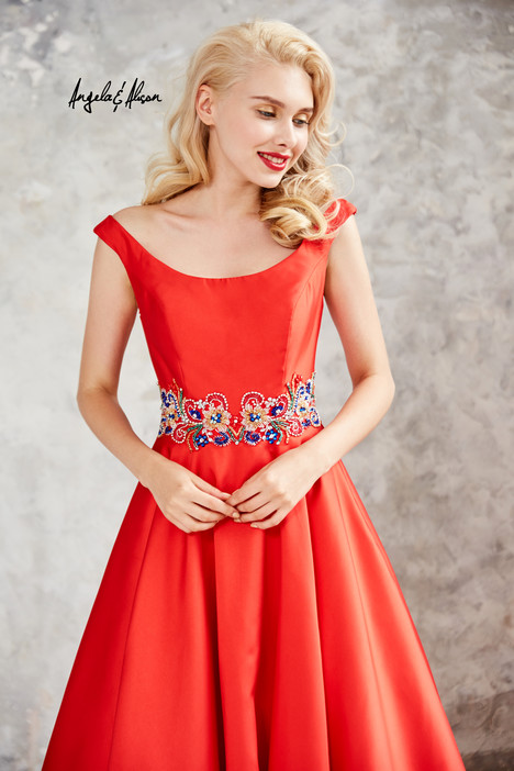 771081 (hot red) gown from the 2017 Angela & Alison Prom collection, as seen on dressfinder.ca