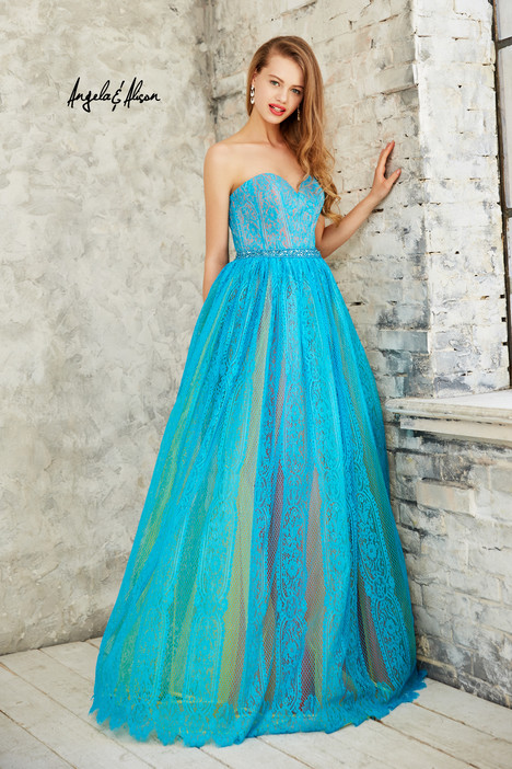 771091 (turquoise mix) Prom                                             dress by Angela & Alison Prom