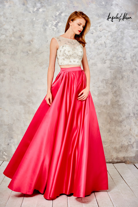 771109 (ivory + fuchsia) gown from the 2017 Angela & Alison Prom collection, as seen on dressfinder.ca