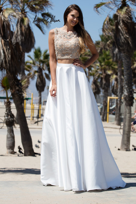 771109 (champagne + ivory) gown from the 2017 Angela & Alison Prom collection, as seen on dressfinder.ca