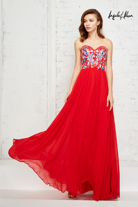 771130 (hot red) gown from the 2017 Angela & Alison Prom collection, as seen on dressfinder.ca