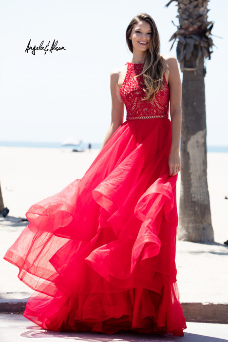 61017 (hot red) Prom                                             dress by Angela & Alison Prom