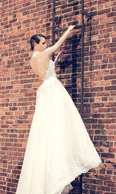 3808 (back) Wedding                                          dress by Regina Schrecker Sposa