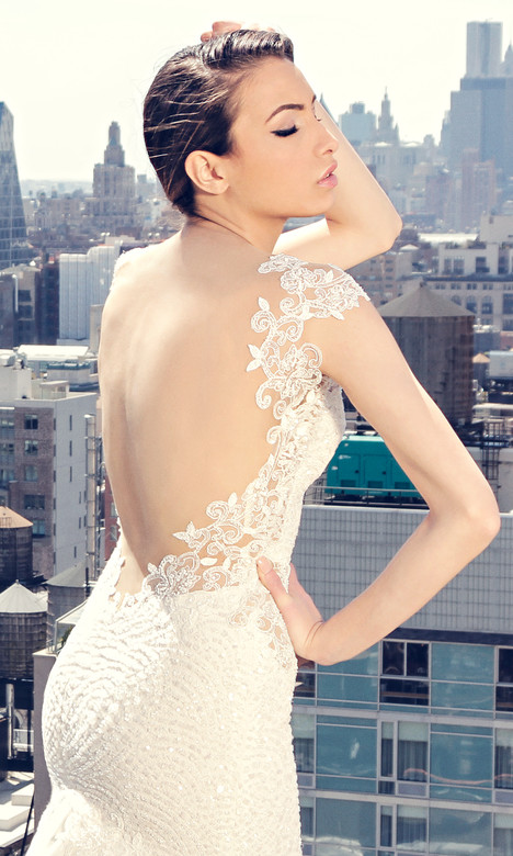 3854 (back) Wedding                                          dress by Regina Schrecker Sposa