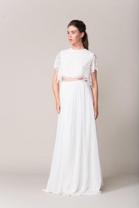 Delancey (crop) + Watts (skirt) Wedding                                          dress by Sarah Seven