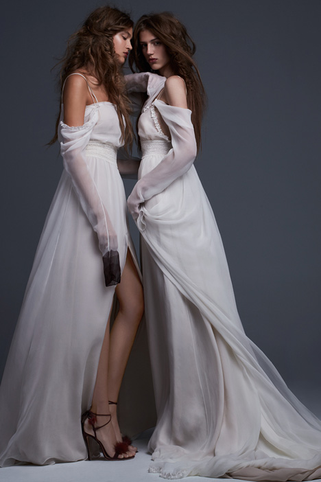 Simona and Serafina Wedding                                          dress by Vera Wang
