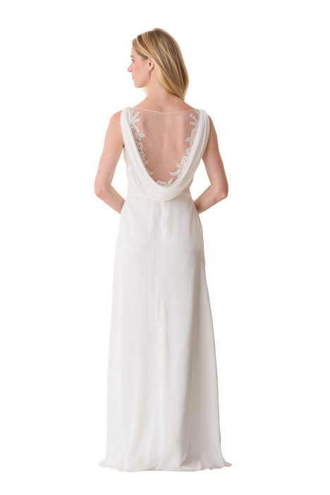 2067 (back) Bridesmaids                                      dress by Bari Jay : White