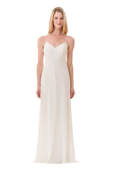 2073 (2) Bridesmaids                                      dress by Bari Jay : White