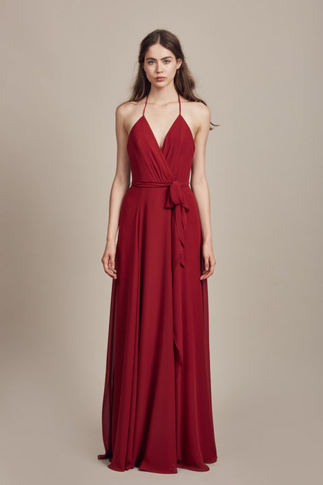 Carmelle (GB006F) (crimson) Bridesmaids                                      dress by Amsale : Bridesmaids