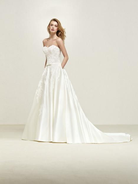 Drape Wedding                                          dress by Pronovias