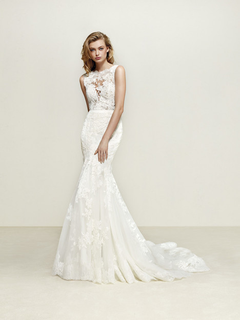 Dril gown from the 2018 Pronovias collection, as seen on dressfinder.ca