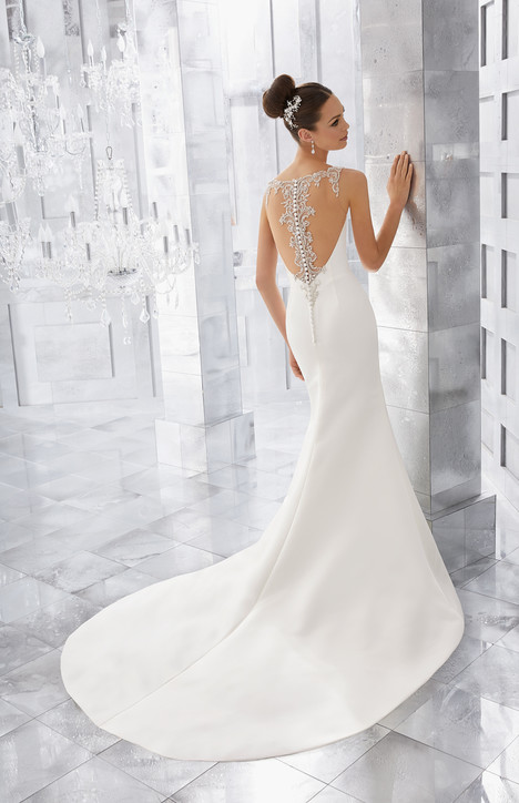 5569 (back) Wedding                                          dress by Mori Lee: Blu