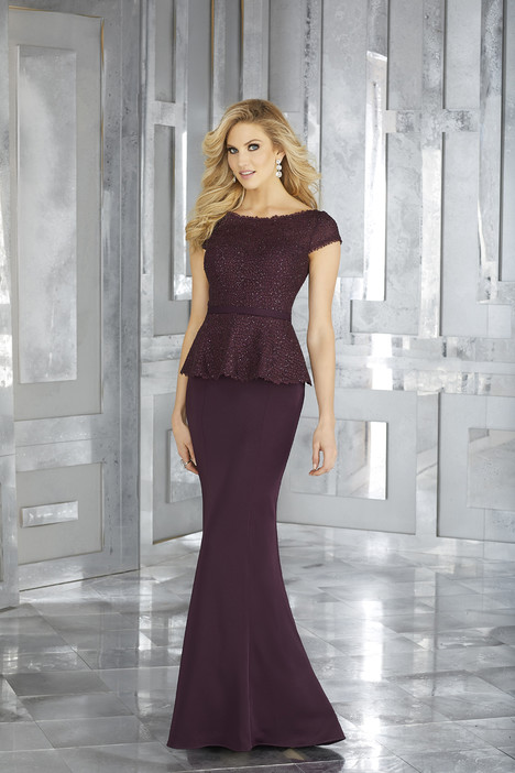 Style 71602, (eggplant) gown from the 2017 MGNY Madeline Gardner collection, as seen on dressfinder.ca