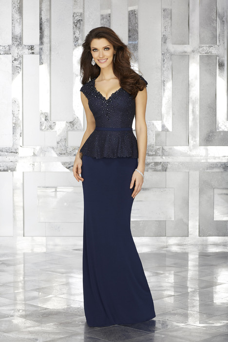 71604 (navy) Mother of the Bride                              dress by Mori Lee : MGNY
