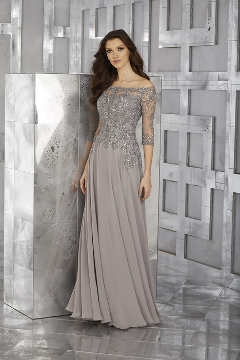 (pewter) Mother of the Bride dress by MGNY Madeline Gardner