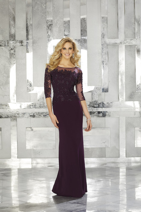 71624 (eggplant) Mother of the Bride                              dress by MGNY Madeline Gardner