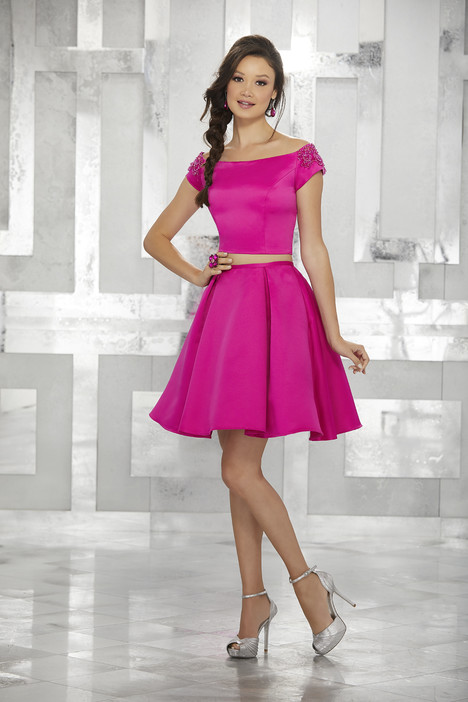 9452 (fuchsia) Prom                                             dress by Morilee Damas