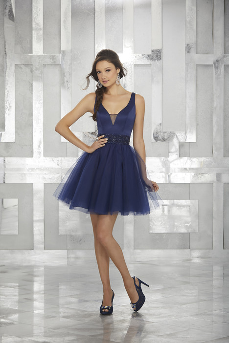 9454 (navy) Prom                                             dress by Morilee Damas