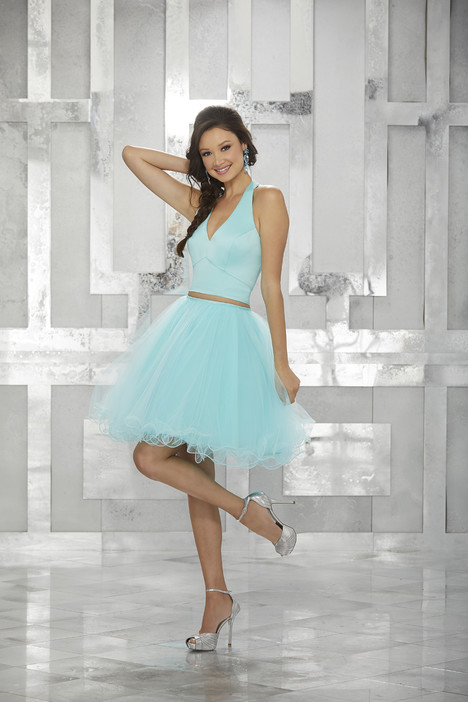9458 (aqua) Prom                                             dress by Mori Lee : Damas