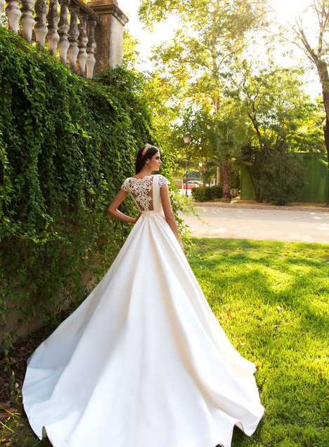 Medelin (back) Wedding                                          dress by Crystal Sevilia