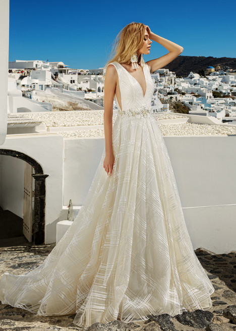 Brooke Wedding                                          dress by Eva Lendel Santorini